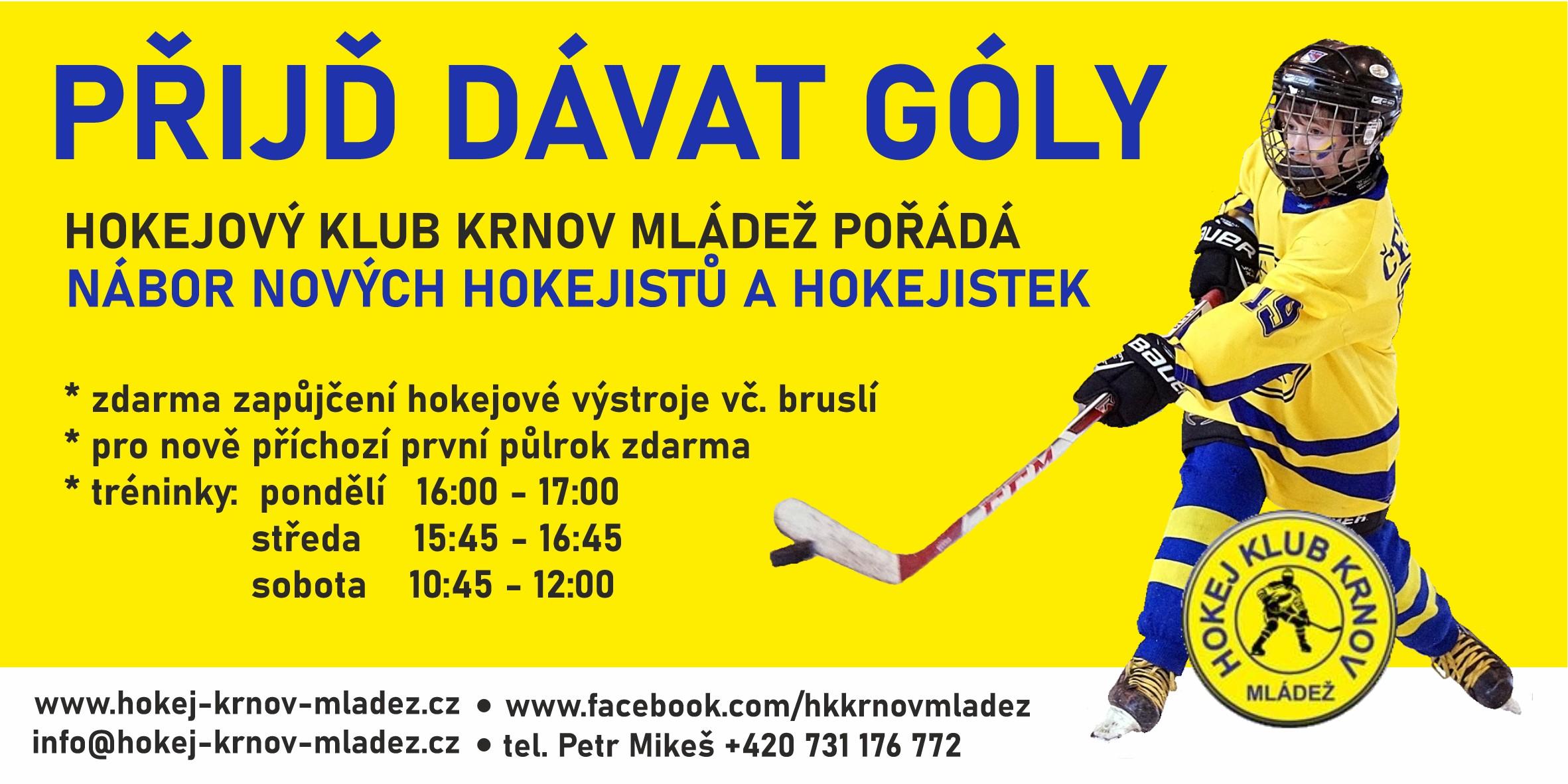 Pojď hrát hokej v Krnově